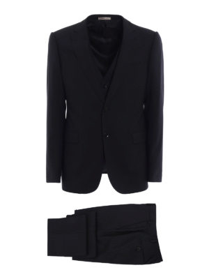 Armani Collezioni: formal suits - Patterned wool three-piece suit