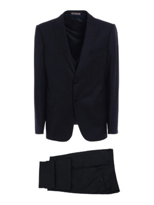 Armani Collezioni: formal suits - Virgin wool three-piece suit