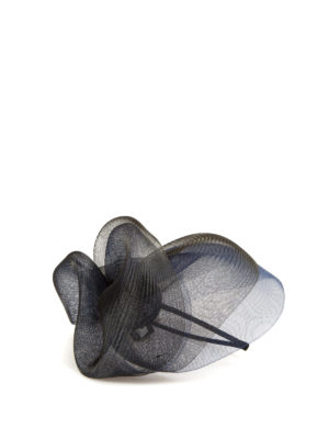 Armani Collezioni: hair accessories online - Two-tone veil fascinator