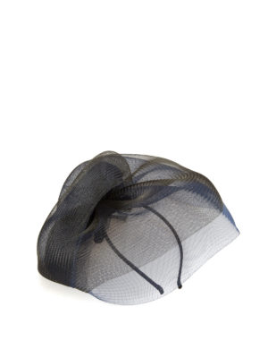 Armani Collezioni: hair accessories - Two-tone veil fascinator