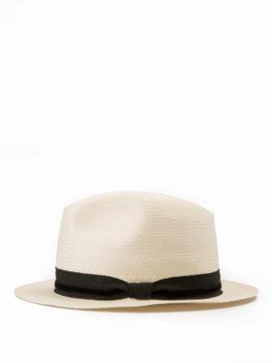 Armani Collezioni: hats & caps online - Straw Panama hat