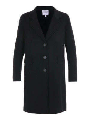 Armani Collezioni: knee length coats - Double cashmere single-breast coat