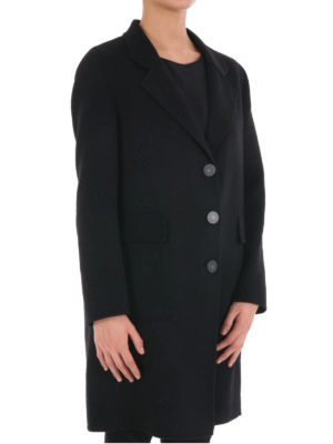 Armani Collezioni: knee length coats online - Double cashmere single-breast coat