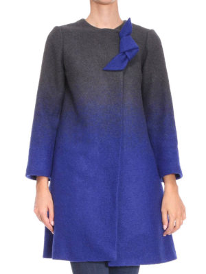 Armani Collezioni: knee length coats online - Shaded boiled wool coat