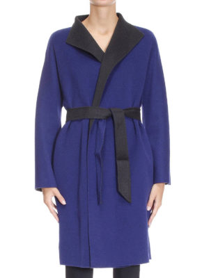 Armani Collezioni: knee length coats online - Wool and cashmere cloth coat
