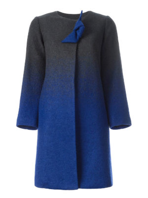 Armani Collezioni: knee length coats - Shaded boiled wool coat