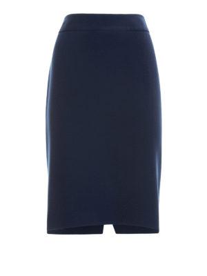 Armani Collezioni: Knee length skirts & Midi - Crepe pencil skirt