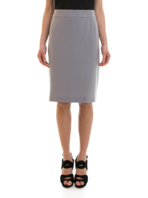 Armani Collezioni: Knee length skirts & Midi online - Crepe pencil skirt