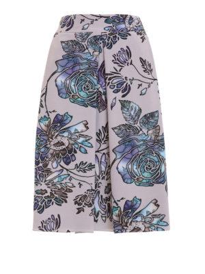 Armani Collezioni: Knee length skirts & Midi - Roses print lined silk skirt