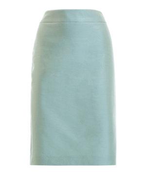 Armani Collezioni: Knee length skirts & Midi - Silk blend skirt
