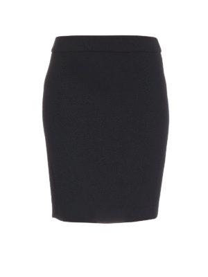 Armani Collezioni: Knee length skirts & Midi - Wool pencil skirt