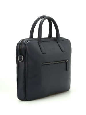 Armani Collezioni: laptop bags & briefcases online - Hammered leather laptop bag