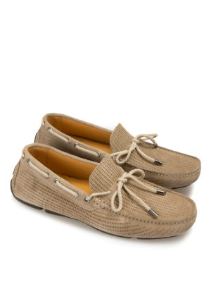 Armani Collezioni: Loafers & Slippers online - Drilled suede driving shoes