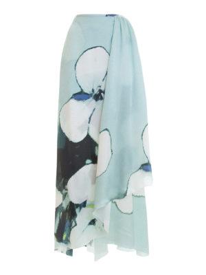 Armani Collezioni: Long skirts - Floral silk draped skirt