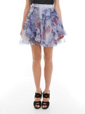 Armani Collezioni: mini skirts online - Chiffon short skirt
