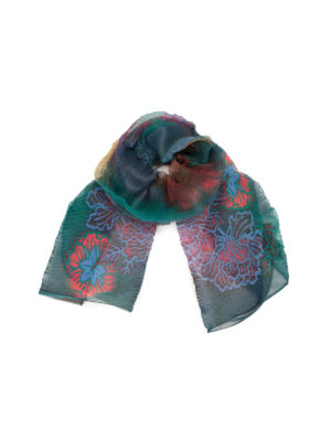 Armani Collezioni: scarves - Flower print sheer scarf