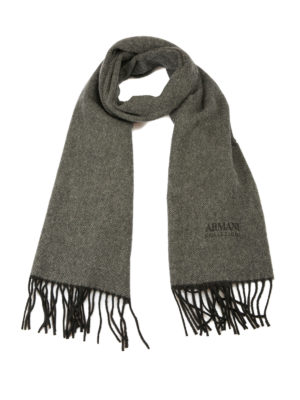 Armani Collezioni: scarves - Herringbone cashmere scarf