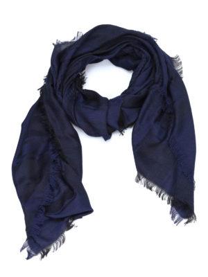 Armani Collezioni: scarves - Houndstooth logo jacquard foulard