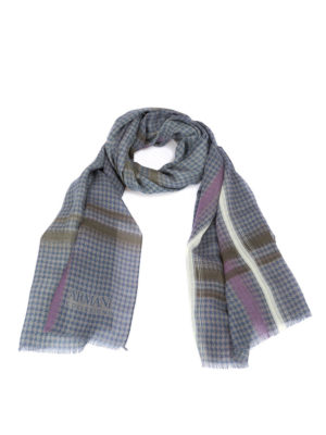 Armani Collezioni: scarves - Houndstooth wool scarf