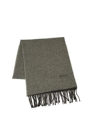 Armani Collezioni: scarves online - Herringbone cashmere scarf