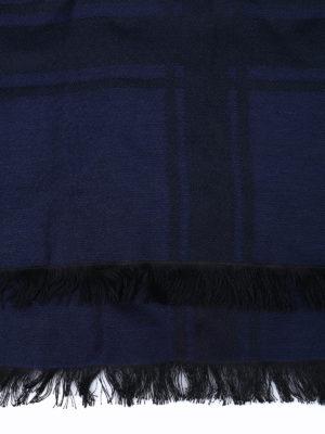 Armani Collezioni: scarves online - Houndstooth logo jacquard foulard