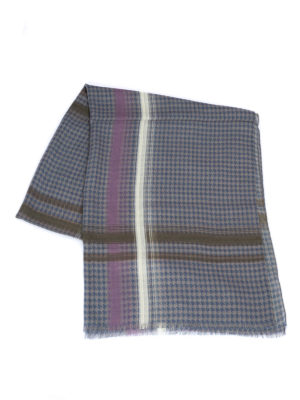 Armani Collezioni: scarves online - Houndstooth wool scarf