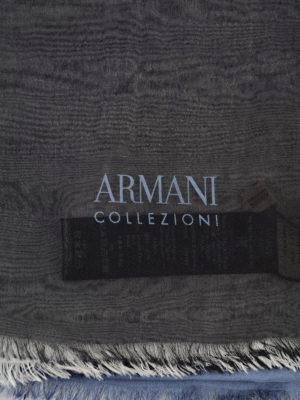 Armani Collezioni: scarves online - Two-tone silk scarf