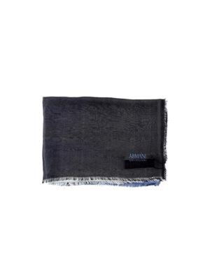 Armani Collezioni: scarves - Two-tone silk scarf