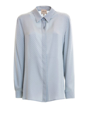 Armani Collezioni: shirts - Embossed pattern silk shirt