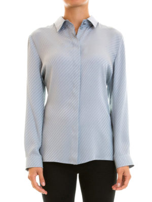 Armani Collezioni: shirts online - Embossed pattern silk shirt