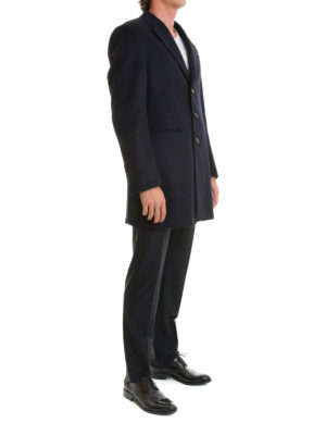 Armani Collezioni: short coats online - T Line cashmere and wool short coat