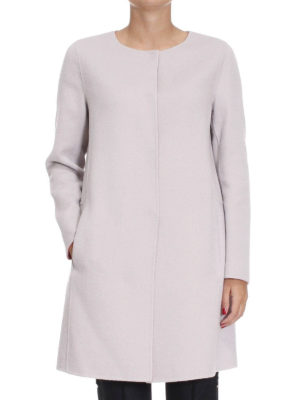 Armani Collezioni: short coats online - Wool and cashmere cloth coat