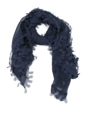 Armani Collezioni: Stoles & Shawls - Raw-cut detailed pleated stole