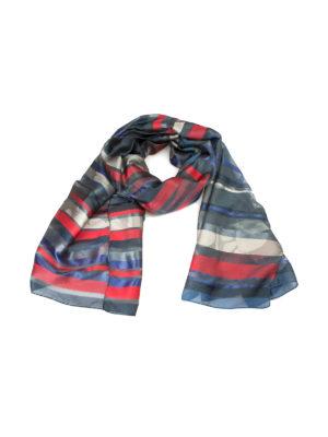 Armani Collezioni: Stoles & Shawls - Striped silk blend chiffon stole