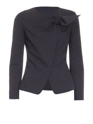 Armani Collezioni: Tailored & Dinner - Bow detail crepe jacket