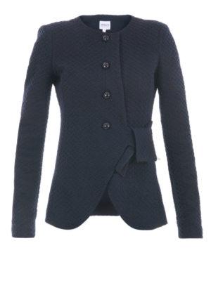 Armani Collezioni: Tailored & Dinner - Collarless textured slim jacket