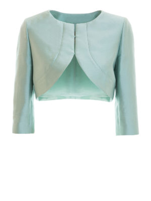 Armani Collezioni: Tailored & Dinner - Cotton and silk blend crop jacket
