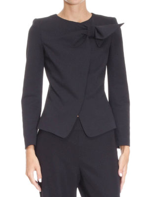 Armani Collezioni: Tailored & Dinner online - Bow detail crepe jacket