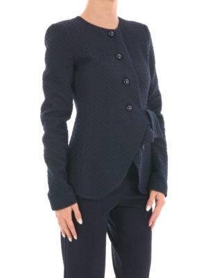 Armani Collezioni: Tailored & Dinner online - Collarless textured slim jacket