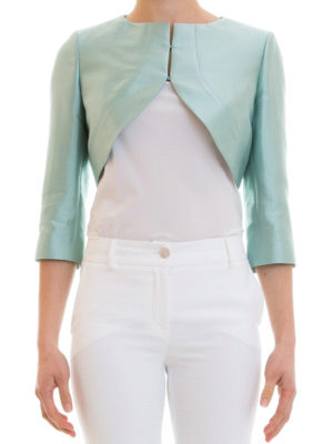 Armani Collezioni: Tailored & Dinner online - Cotton and silk blend crop jacket