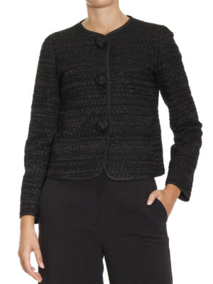 Armani Collezioni: Tailored & Dinner online - Maxi buttons jacquard jacket
