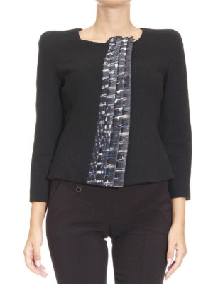 Armani Collezioni: Tailored & Dinner online - Patterned ruffles detail jacket