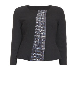Armani Collezioni: Tailored & Dinner - Patterned ruffles detail jacket