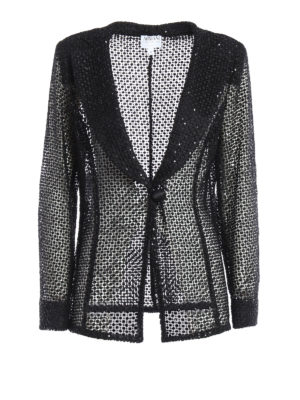 Armani Collezioni: Tailored & Dinner - Sequined lace sheer jacket