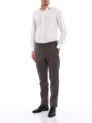 Armani Collezioni: Tailored & Formal trousers online - Cool wool classic trousers