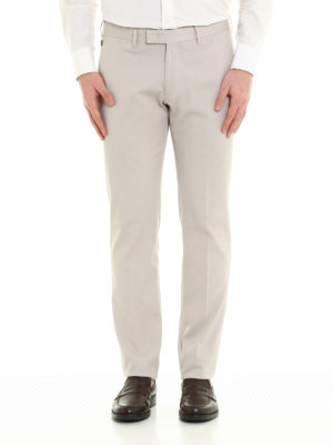 Armani Collezioni: Tailored & Formal trousers online - Micro patterned formal trousers