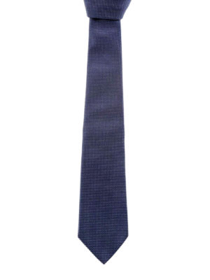 Armani Collezioni: ties & bow ties - Micro-patterned silk tie