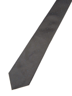 Armani Collezioni: ties & bow ties online - Houndstooth grey silk tie