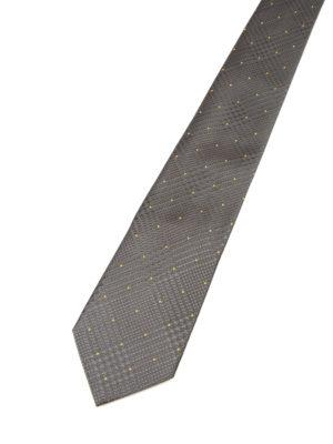 Armani Collezioni: ties & bow ties online - Houndstooth silk grey tie