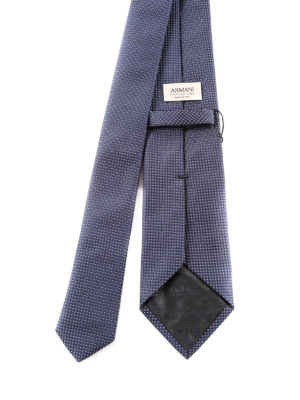Armani Collezioni: ties & bow ties online - Micro-patterned silk tie